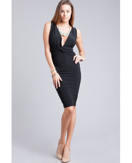 Fitted Knee Length Dress