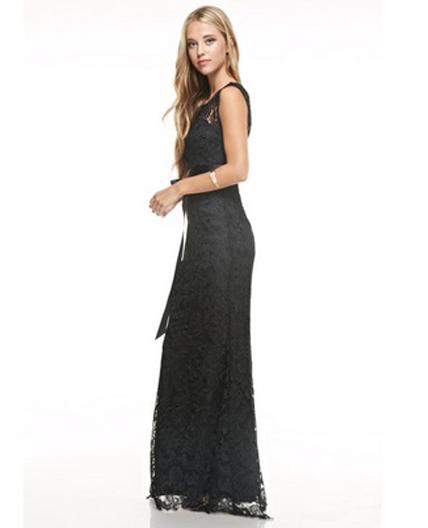 Guipure Lace Formal Dress Plus Size- 2 Colors