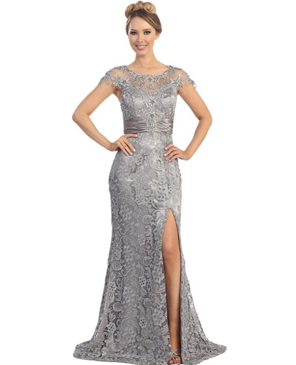 Shop Silver Mother Of The Bride Dress Miami Shop Grey Evening Dress