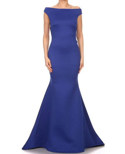Royal Blue Mermaid Evening Dress, Black Evening Dress Miami, Dress ...