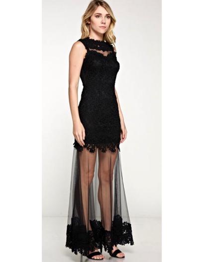 Black Lace Evening Dress Miami Shop Prom Dress Miami Pageant Dress