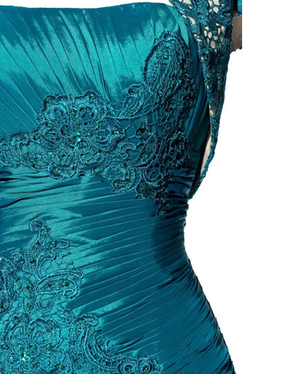 Teal Evening Dress with Jacket