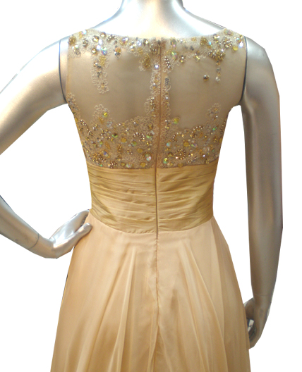 Vintage Wedding Dresses Miami: Champagne Evening Dress, Champagne Chiffon Dress, Shop