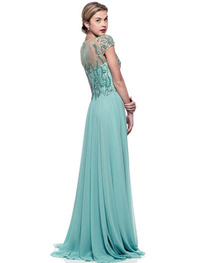 Shop Mother of the Bride Dress Miami, Aqua Chiffon Evening Dress ...