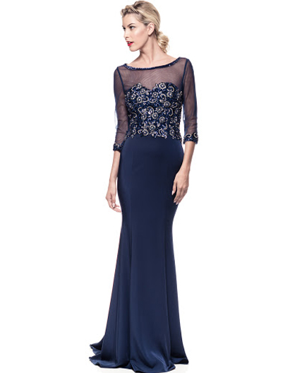 b35961f244ee2 Shop Navy Mother of the Bride Dress Miami, Shop Modest Evening Dress ...