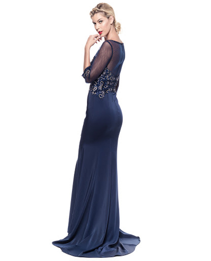 Shop Navy Mother Of The Bride Dress Miami Shop Modest Evening Dress