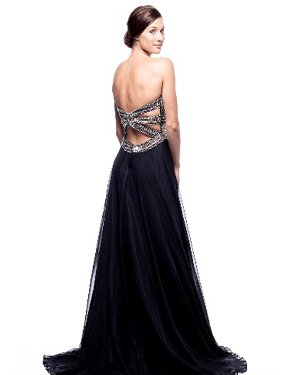 Shop Black Chiffon Evening Gown Miami Shop Mother Of The Bride
