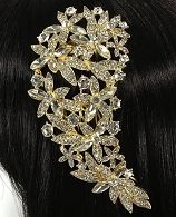 Gold  Rhinestone Hair Comb