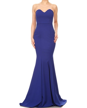 Strapless Mermaid Formal Dress- 2 Colors