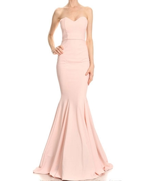 Sweetheart Strapless Mermaid Formal Dress- 2 Colors