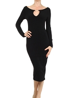 L/S Black Bodycon Dress