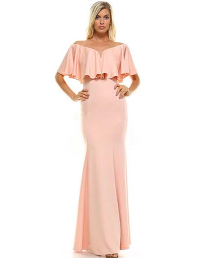 Off The Shoulder Evening Dress Miami Blush Off The Shoulder Formal