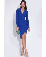 L/S Cowl Neck Short Dress- 2 Colors