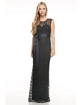 Guipure Lace Formal Dress Plus Size- 2 Colors