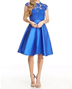 Royal Blue Mikado Cocktail Dress