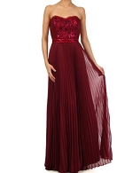 Sequins Lace Corset Evening Dress- 2 Colors