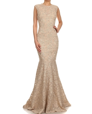 Lace Mermaid Evening Gown- 4 Colors