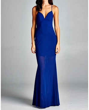 Mesh Halter Formal Dress- 4 Colors