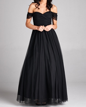 Tulle Sweetheart Off the Shoulder Ball Gown