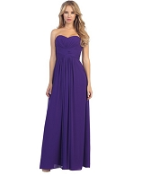 Strapless Chiffon Formal Dress- 2 Colors