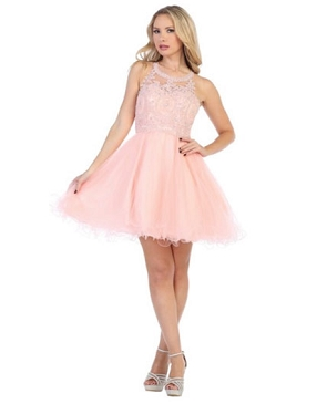 Halter Tulle Short Puffy Dress- 3 Colors