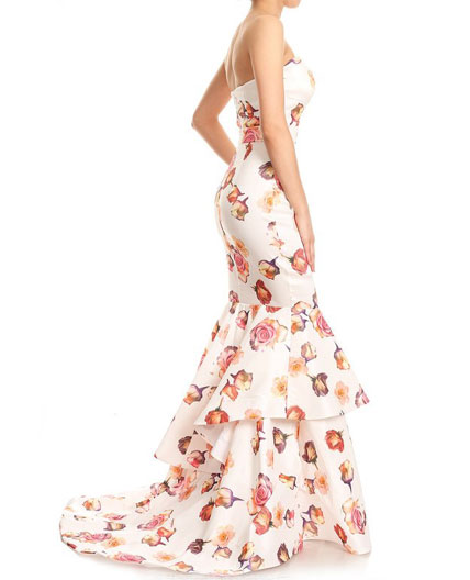 Floral Print Evening Gowns