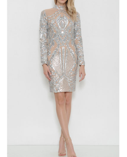 how to add sequins to a dress