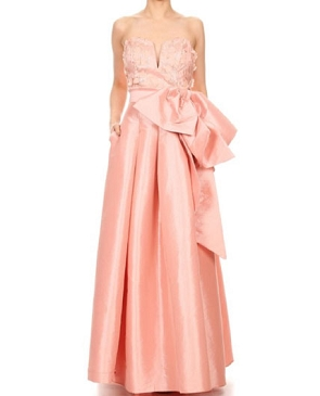 Blush Taffeta Ball Gown Dress
