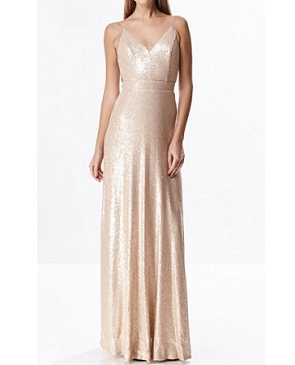 Sequins Formal Dress w/Open Back