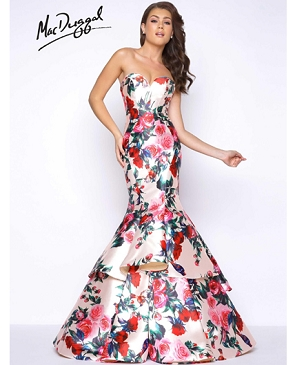 Floral Romance Mermaid Evening Gown
