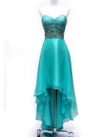 Aqua High Low Chiffon Dress