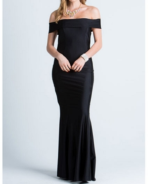 Crystal Mermaid Off the Shoulder Formal Dress- 2 Colors