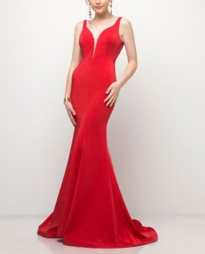 Rhinestone Back Mermaid Evening Dress- 2 Colors