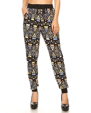 Tribal Print Jogger Pants