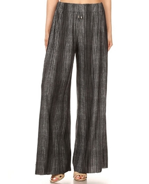 Pleaded Black Faded Palazzo Pants