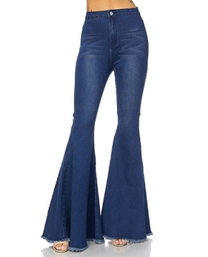 High Waist Denim Bell Bottom Jeans- 2 Colors