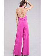 Halter Jumpsuit w/Back Chains- 3 Colors