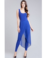 Jumpsuit w/Mesh Wrap- 2 Colors