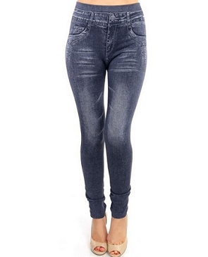 Greyish Wash Seamless Jeggings