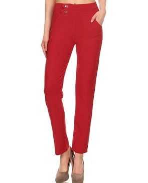 Scuba Cropped Pants- 2 Colors
