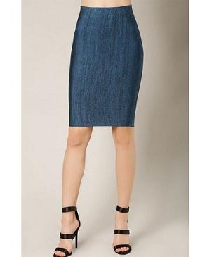 Denim Blue Bandage Midi Skirt- 2 Colors