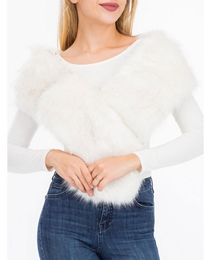 Faux Fur Wrap- 2 Colors