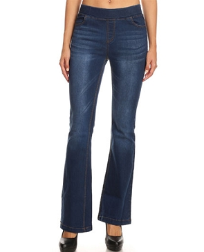 Stretch Jeans with Flared Hem
