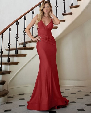 Crystal Halter Mermaid Evening Dress- 4 Colors