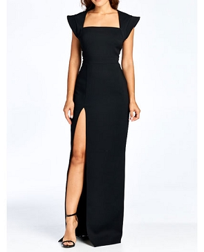 Electra Black Formal Dress w/Slit
