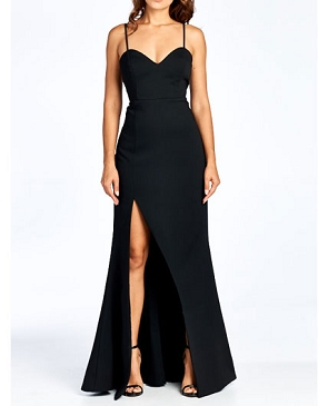 Sweetheart Formal Dress with Slit- 2 Colors