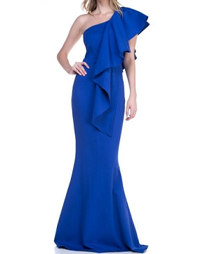 One Shoulder Royal Blue Formal Dress