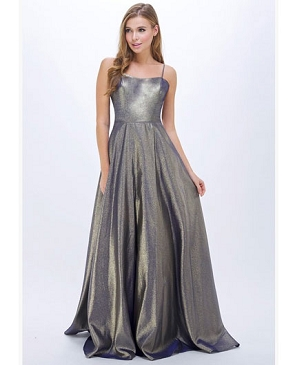 Multi Tone Metallic Formal Dress