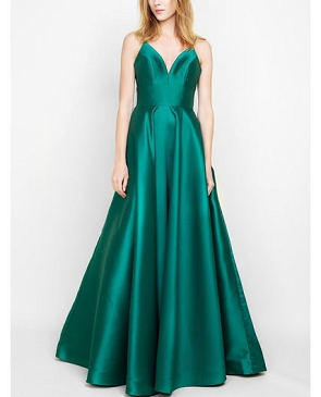 Emerald Green Mikado Ball Gown