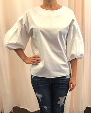 Puffy Sleeve Blouse- 2 Colors
